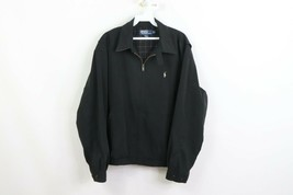 Vtg 90s Ralph Lauren Mens Medium Microsuede Flannel Lined Bomber Jacket ... - $69.25