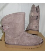 UGG Stormy Grey REMORA Buckle Crystal Bling Suede Short Boots Size 9 NIB... - $117.76