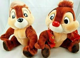 "Disney Chip & Dale 12"" Sitting Plush Disney Parks Good Condition - $19.34"