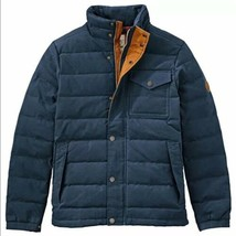 $298 Timberland Men's Mt Davis Waxed Down Jacket, Navy Blue. Size: L - $163.35