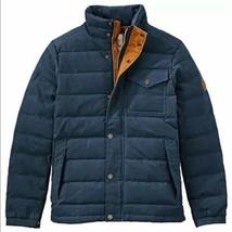 $298 Timberland Men's Mt Davis Waxed Down Jacket, Navy Blue. Size: L - $163.35