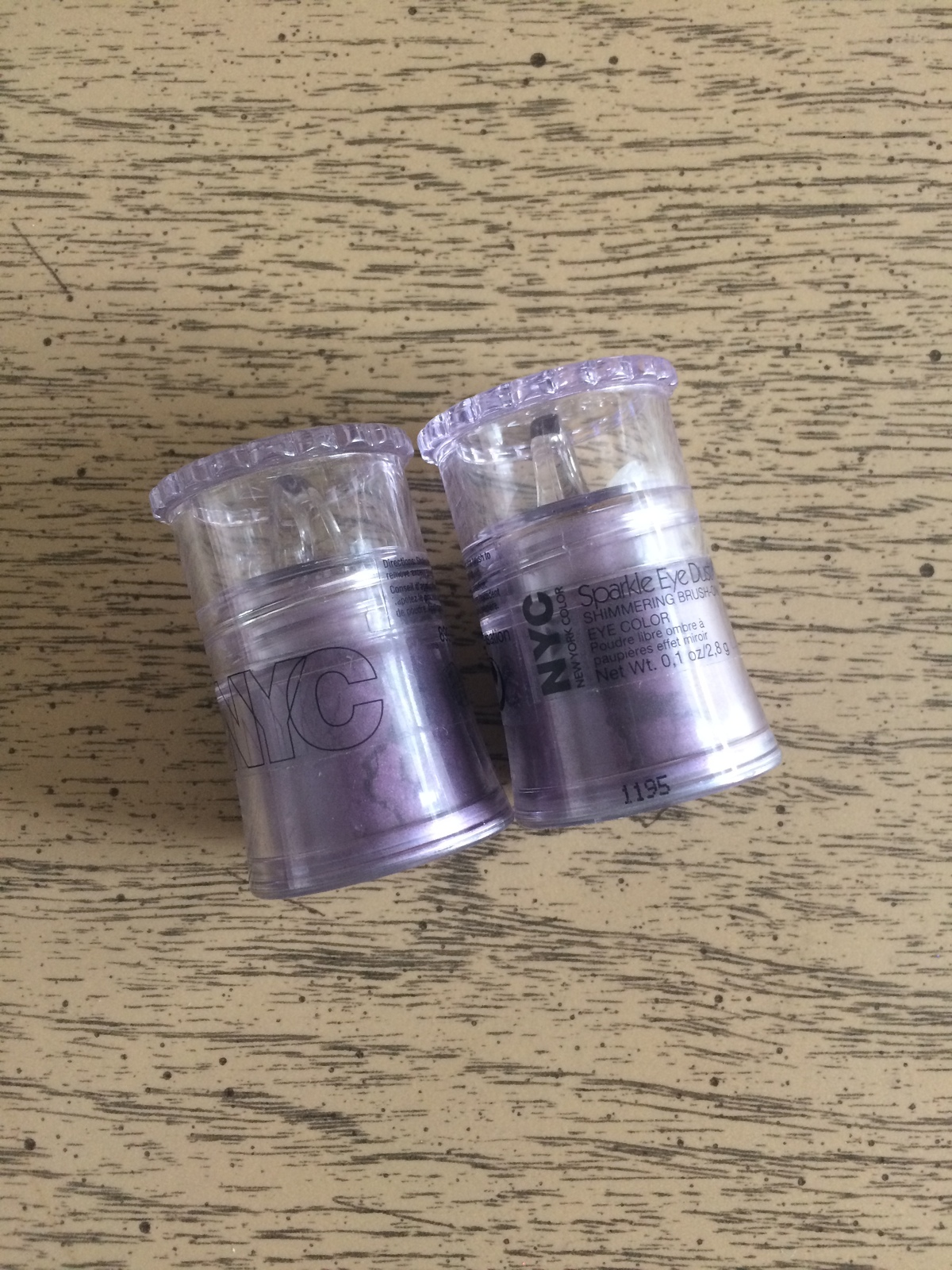 Primary image for NYC Sparkle Eye Dust Brush-On Eyeshadow Color Pot  #899 Lilac Sensation Lot of 2