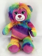 "Tye Dye Rainbow Build A Bear Lion Plush 18"" Stuffed Toy 2016 - $14.01"