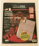 Utra Pro Hologram Series 9 Pocket Pages 30 Pages Holds 270 Cards New Sea... - $11.99
