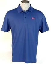 Under Armour Golf Blue Moisture Wicking Short Sleeve Polo Shirt Men's NWT - $52.49