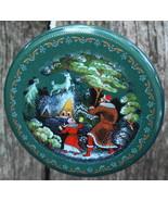 Russian Christmas Ornament Silver Hoof by Palekh Art Studios Valentin Fe... - $32.00
