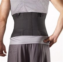 Corflex Industrial Back Support - NO Straps - Black - Medium - $48.99