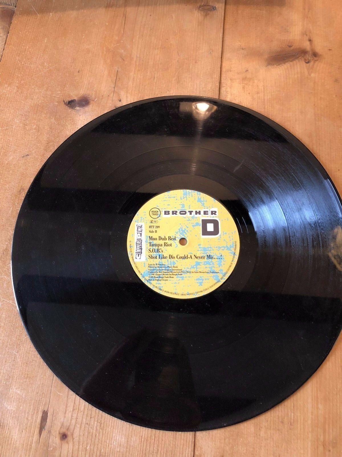 """BROTHER D """"CLAPPERS POWER"""" RAP HIP HOP VINILO 30.5cm SOLO RECORD"""