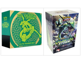 Pokemon TCG Celestial Storm Elite Trainer Box + Prerelease Kit Build Bat... - $64.99
