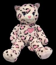 Build A Bear Pink Cat MEOWS Leopard Cheetah Sassy Plush Kitty Animal BAB... - $13.89