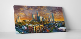 """Charlotte NC Downtown Panoramic Skyline Gallery Wrapped Canvas Print. 45""""x16"""" - $135.52"""