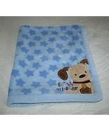 Just Born Baby Blanket Blue Plush Stars Lil All Star Boys Puppy Dog Corn... - $29.96