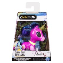 Zoomer Zupps Tiny Stardust Interactive Unicorn with Light-Up Horn Toy Pink - $23.04