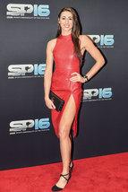 Women Bianca Walkden Designer Trendy Women  Real Leather Replica Body-Con Dress