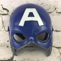 Captain America Mask Marvel Avengers Comic Book Hero Halloween Prop Fun Cosplay - $14.84