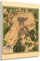 1863 Map of the Battle of Gettysburg Pennsylvania - Vintage Map Wall Art - Ameri - $34.99+