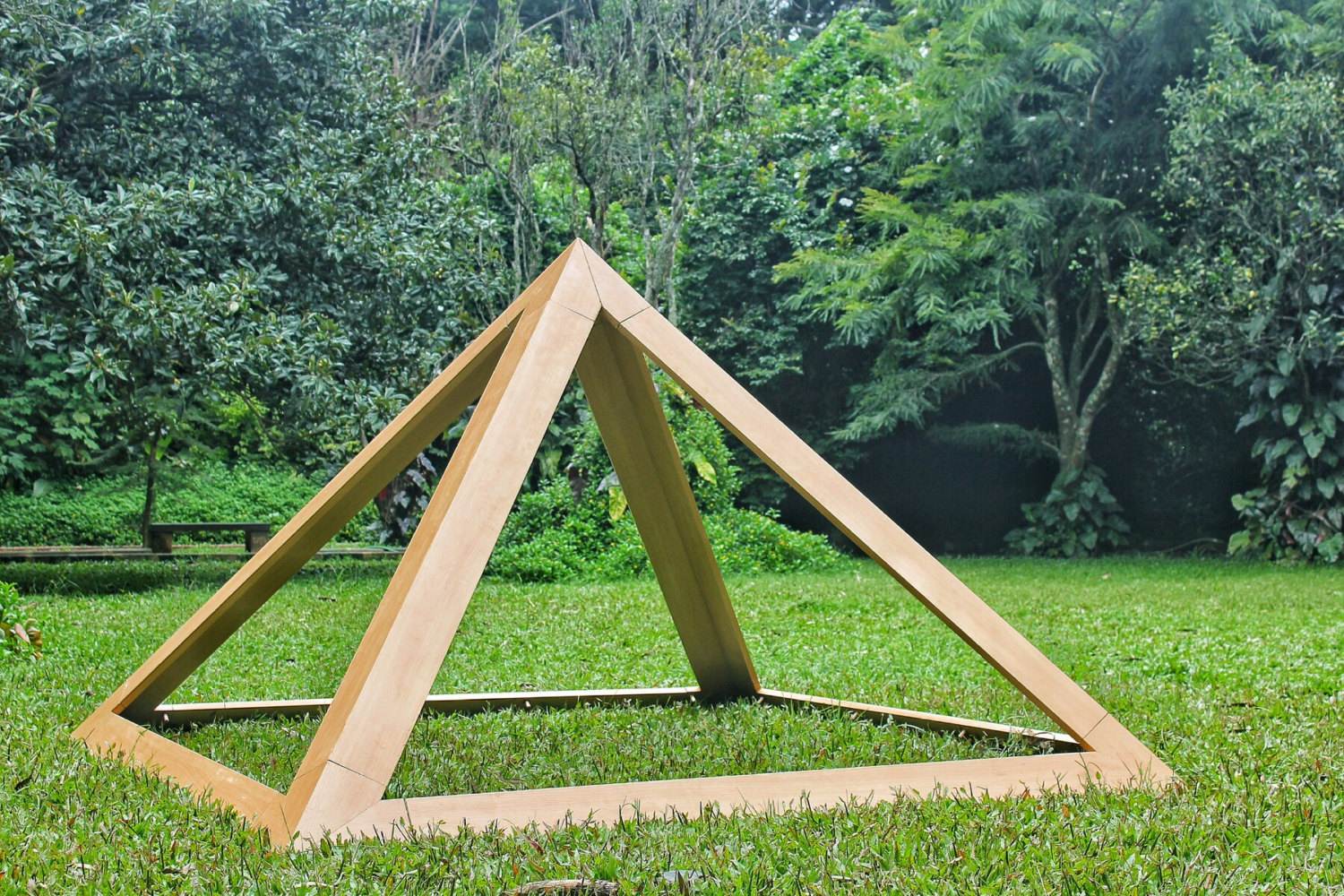 Wooden Meditation Pyramid 8 Base for Spiritual Healing Heavy Duty for Outdoors w