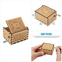 Wood Music Boxes- La Vie En Rose Carved Hand Crank Musical Box Wooden Cl... - $18.32