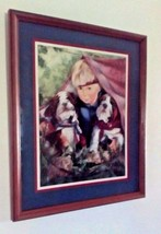 Home Interiors & Gifts. Beautiful Little Boy With Two Puppies. - $38.50