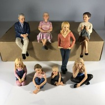 8 Piece Hand Painted American Bored Pandemic Stay at Home Family Decoration - $188.09