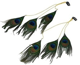Peacock Feathers Fringed Hairpin Chain Hair Clip Rope Headband Hair Accessories
