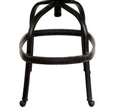 Patio outdoor living cast aluminum bar stools set of 2 swivel Flamingo Bronze. image 5