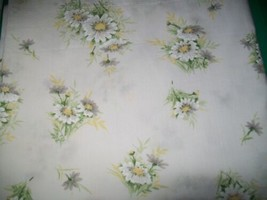 "Full Size Bed Double Flat Sheet Daisy Percale Sears 81"" by 96"" last one - $8.90"