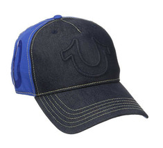 True Religion Men's Raised Horseshoe Logo Baseball Hat Sports Strapback Cap image 2