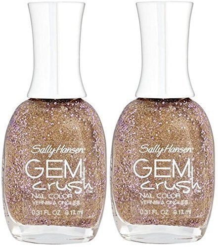 Sally Hansen Gem Crush Nail Color #03 BIG MONEY (Pack of 2) Plus a Free Nail Fil