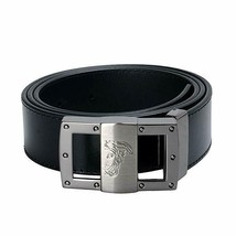 Versace Collection V91S174 VM00046 Men's Saffiano Leather Belt Black Later - $89.99