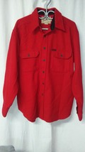 Vintage WOOLRICH Men's Thick Wool Bend Flannel Shirt Jacket L Red Made i... - $30.63