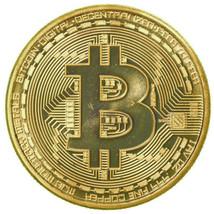 RARE Gold Plated 1oz Bitcoin Coin Collectible Gift BTC Coin Art Collecti... - $7.99