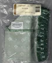 Longaberger Address Basket Heritage Green Fabric Over Edge Liner Only New - $15.68