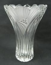 Vintage West Germany Mid Century Crystal Art Glass Art Nouveau heavy vase - $59.00