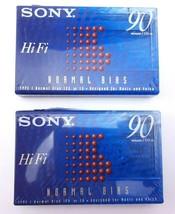 2 Pack SONY Hi Fi Normal Bias 90 min Cassettes   - $7.35