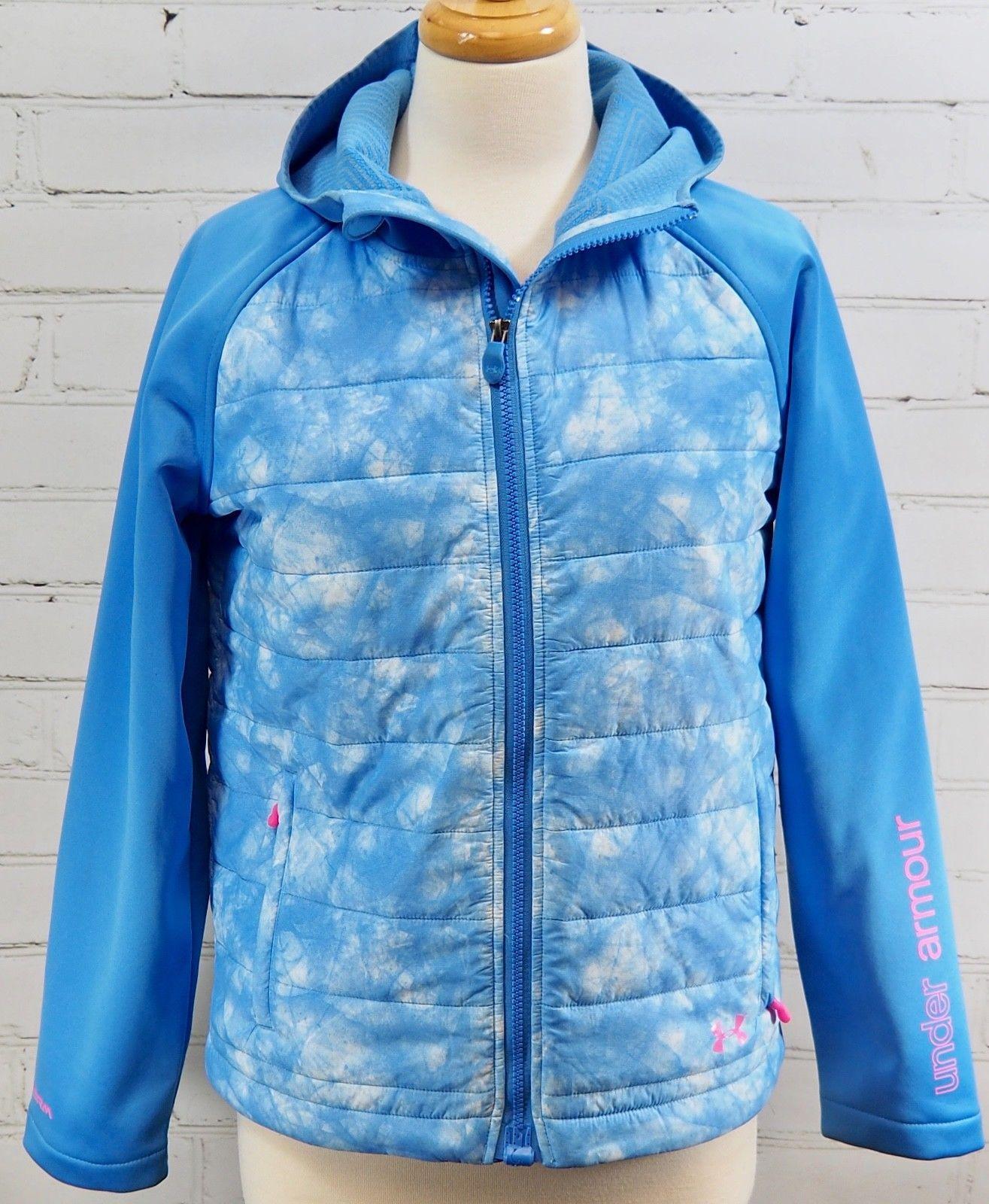 889afb6b4 57. 57. Under Armour Werewolf Coldgear Infrared Storm Girls Hooded Jacket  Coat YXL 18-20 · Under Armour Werewolf ...