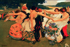 Vintage Art POSTER.Home wall.Women Playing.Room interior art Decor.529 - $10.89+