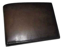 SPERNANZONI MEN'S LUXE ITALIAN LEATHER BIFOLD 8 POCKET WALLET MOCHA - $197.95