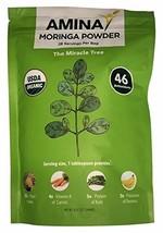 Amina USDA Organic Moringa Tree Dried Leaf Powder, 8 oz Pouch (3) - $39.96