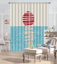 3D Blue Sea Sun 201 Blockout Photo Curtain Print Curtains Drapes US Lemon - $177.64+