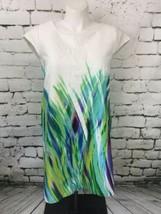 R&K Plus Sz Dress White Blue Green Purple Womens Plus Sz 16W - $24.74
