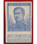 Belgique 1912 King Albert I Largeur / Touche (Graveurs' Nom ) Non Sc#105aV MH - $3.86