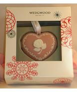 New Wedgwood Pink White Jasperware Breast Cancer Heart Christmas Ornament - $25.49