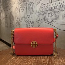 TORY BURCH Chelsea Convertible Shoulder Bag Red Authentic - $335.00