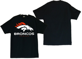 Denver Broncos Football Image On Men's Black Shirt - $20.78+