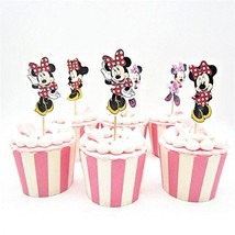 Cupcake topper Minnie Red & Pink Polka dot,party supply,Guests love it - $6.56