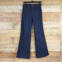 Gap Kids Pants Girl's Size 12 Slim Blue Adjustable Waistband TF6 - $11.87