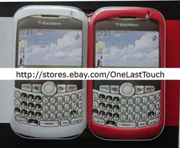 TECH HEADQUARTERS 2pc Case for BLACKBERRY CURVE Clear+Red SILICONE SKINS... - $7.90