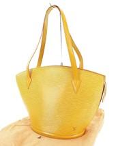 Auth LOUIS VUITTON Saint Jacques Large Yellow Epi Leather Shoulder Bag #31937 - $329.00