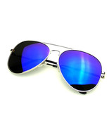 Full Mirror Flash Lens Polarized Aviator Sunglasses - $9.02